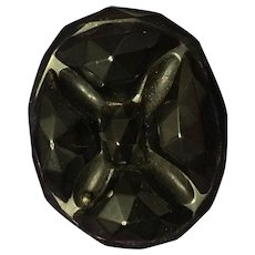 Antique Whitby Jet Brooch, Pin