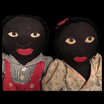 Black Americana Folk Art Dolls