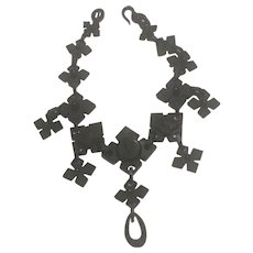 Antique Victorian Mourning Necklace