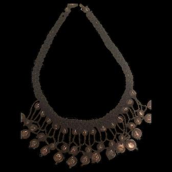 Vintage costume necklace copper colour