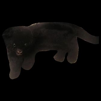 Vintage Black Cat Mohair PJ Bag
