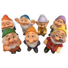 Walt Disney Productions - Rubber Seven Dwarves - Snow White - Hong Kong - 7 Dwarfs