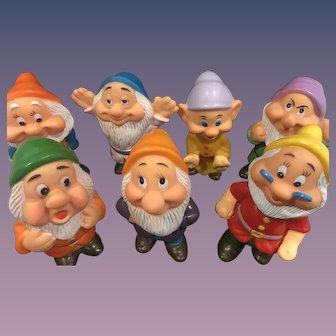 Walt Disney Productions - Rubber Seven Dwarves - Snow White - Hong Kong - 7 Dwarfs