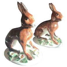 British National Trust Pottery Seated Rabbit - Italy - 2