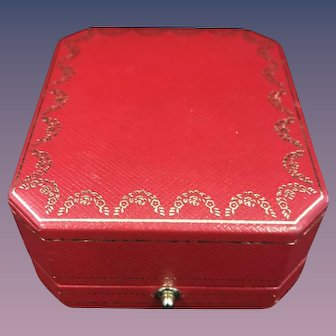 Cartier Red and Gold Earring Box C 4533