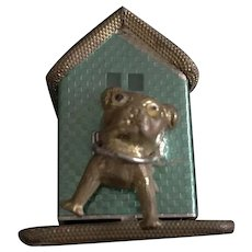 Figural Metal Dog & House Tape Measure