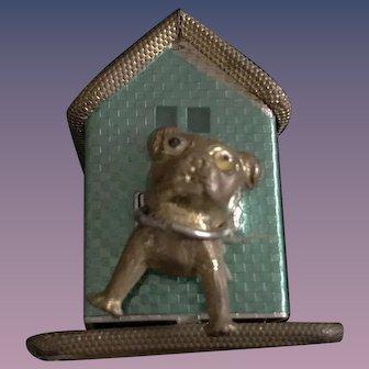 Figural Metal Dog & House Tape Measure