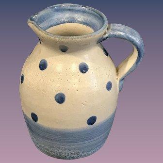 Dorchester Pottery Polk A Dot Creamer Pitcher