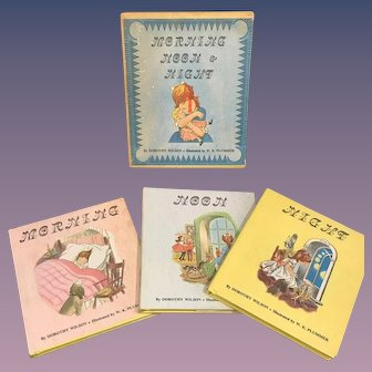 Miniature Children's Book Set - Morning Noon & NIght by Wilson