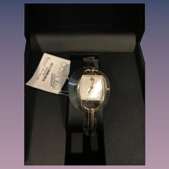 NIB Movado Ladies Watch - 0606608 Miri MOP Face with Gold Tone Steel Bangle Band