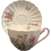 Shelley Bone China Tea Cup & Saucer - Stocks