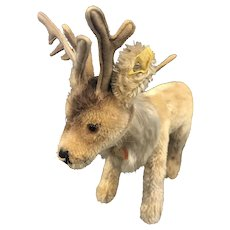 "Steiff Renny Reindeer 9"" Mohair Stuffed Toy Germany"