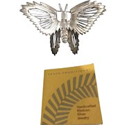Taxco Mexico Sterling Silver Butterfly Pin