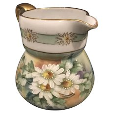 Gorgeous Handpainted Vienna Austria Pitcher - Daisies