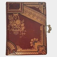 '1888' Victorian Leather Photo Album ~ Cabinet, CDV & Tintype Cards ~ Reimers Family of Wisconsin
