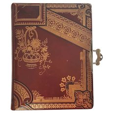 Antique '1888' Victorian Leather Photo Album ~ Cabinet, CDV & Tintype Cards ~ Reimers Family of Wisconsin