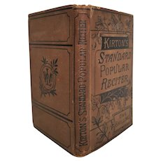 Kirton's Standard Popular Reciter ~c.1870 ~Prose and Poetical Pieces