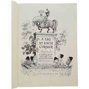 'A Leg At Each Corner: Thelwell's Complete Guide to Equitation' ~ 1967 ~ by Norman Thelwell