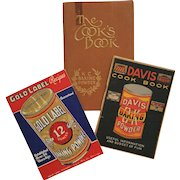 Baking Powder Collection: 'Cook's Book' 1933 ~ 'Davis Cook Book' c.1910 ~ 'Gold Label Recipes' c.1935