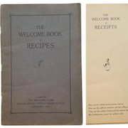 c.1915 ~ The Welcome Book of Recipes ~ Second United Presbyterian Church ~ RARE, antique Charity Cookbook sponsored by KNOX Gelatine