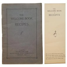 c.1915 ~ The Welcome Book of Recipes ~ Second United Presbyterian Church ~ Antique Charity Cookbook ~ KNOX Gelatine