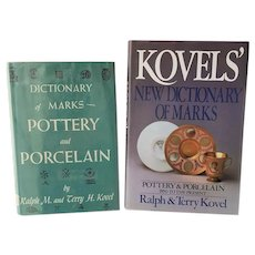Dictionary of Marks: Pottery and Porcelain (1650-1985) ~ Kovel Books, Hardbacks with Dust Jackets