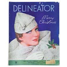 DELINEATOR ~ December 1933, Christmas Edition ~ Fashion Magazine ~ NRA sponsored