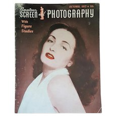 Oct. 1952 'Amateur Screen and Photography Magazine' with Figure Studies