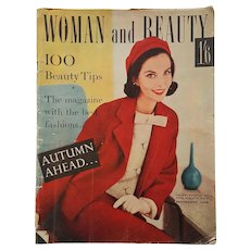 September 1958 ~ WOMAN and BEAUTY ~ Fashion Magazine from London, England