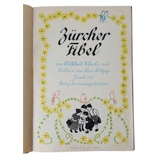 RARE 'Zurcher Primer Book' for German Children ~published 1921