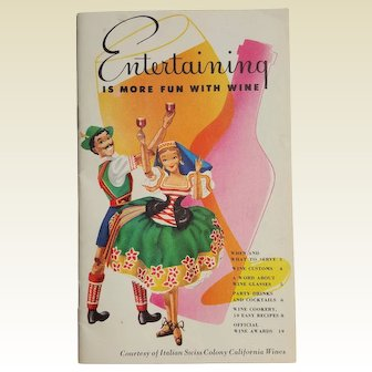 Italian Swiss Colony California WINEs ~ ASTI advertising recipes booklet ~ circa 1950