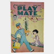 April 1950 Easter Edition ~ Children's PLAY MATE Magazine: For Boys and Girls