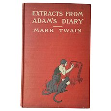 RARE 'Extracts From Adam's Diary' by Mark Twain ~published 1904