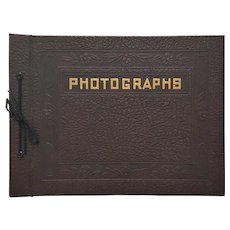 RARE Vintage 'NOS' Embossed Leather Photography Album ~ circa 1930