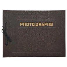 RARE Vintage 'NOS' Embossed Leather Photography Album ~ circa 1930