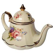 RARE vintage SADLER English Tea Pot ~ Carousel Marquee Floral Bouquet ~ circa 1940