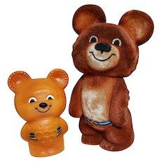 1980 Moscow Olympics BEAR Souvenir Memorabilia Toys ~ USSR ~ Russia