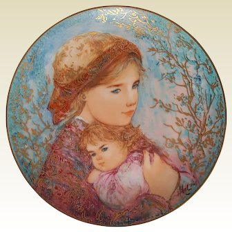 'EMILY and JENNIFER' ~ Edna Hibel ~ Limited 1986 Mother's Day