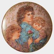 1990 Mother's Day ~'Elizabeth, Jordan and Janie'~ Edna HIBEL ~ Limited Edition