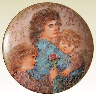 'Elizabeth, Jordan and Janie' ~ Edna HIBEL ~ Limited 1990 Mother's Day