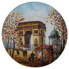L'Arc de Triomphe ~ Louis DALI ~ Limited Edition PREMIERE Plate ~ 1980
