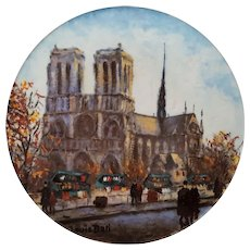 La Cathedrale NOTRE Dame ~ Louis DALI ~ Limited Edition 1980 Plate