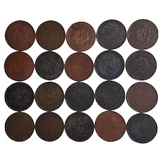 Circa 1900 ~ Genuine CHINESE coin collection ~ Qing Dynasty & the Republic of China