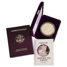 1991 ~ American Eagle SILVER Bullion ~ One Ounce PROOF Coin