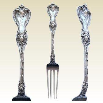 antique 'King Edward' pattern STERLING silver dinner FORK ~ 1901 Whiting Division
