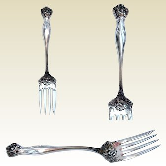 1903 'MYSTIC' cold meat serving FORK ~ Rogers & International silver-plated