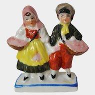 Berry HARVEST Peasant Couple porcelain fairing figurine ~ circa 1935, Made in Japan