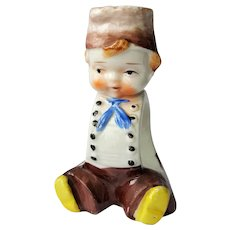 Adorable Dutch Boy, hand-painted Porcelain Napkin Ring ~ Japan ~ post-1952