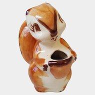 Twin Winton ~ Adorable CHIPMUNK Squirrel ~ circa 1945 ~ California Pottery