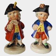 Baroque Era French Statesmen fairing Figurines ~ early 1939-1949 Goebel ~ E&R co. Germany